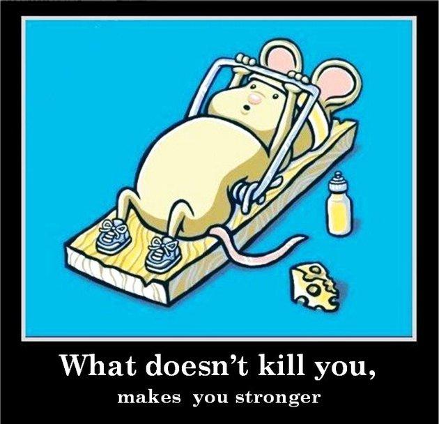 Αποτέλεσμα εικόνας για things that doesn't kill you makes you stronger